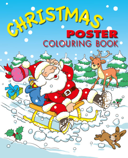 Christmas poster colouring book
