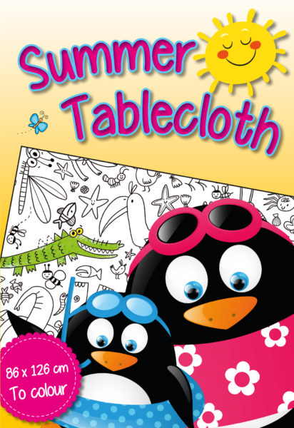Tablecloth colouring book